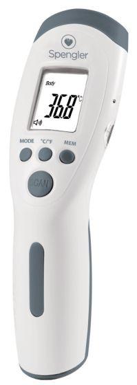 Thermomètre sans contact Tempo Easy gris Spengler