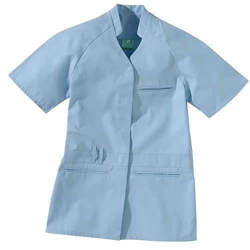 Tunique médicale femme courte TUF Taille 4 Coloris Bleu ciel