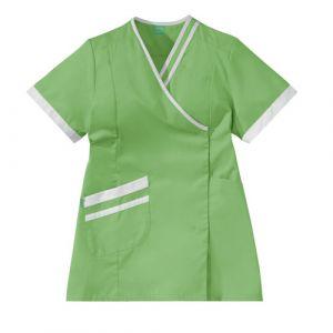 Tunique médicale femme LILEE 8TCC00PC Vert pomme/Blanc