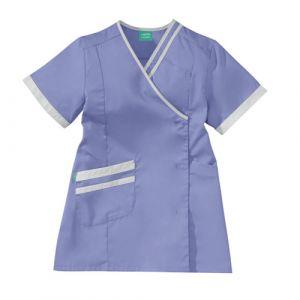 Tunique médicale femme LILEE 8TCC00PC Parme/Blanc