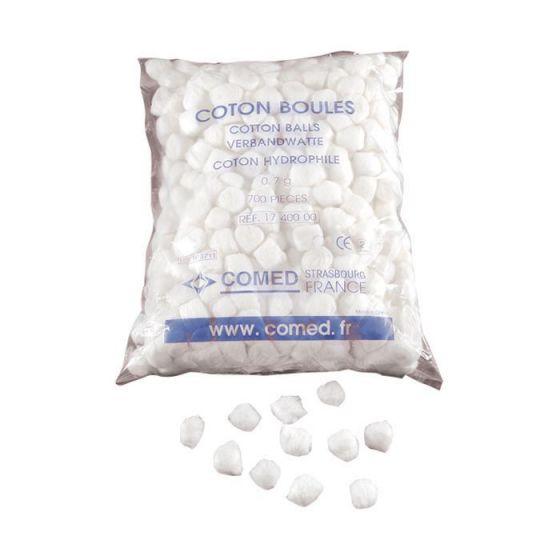 Boules de coton hydrophile Comed sachet de 700