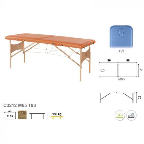 Table de massage avec tendeurs Ecopostural hauteur fixe 3212