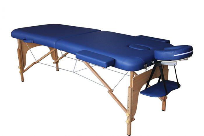 Table de Massage pliante en bois Mediprem Eco Pro Bleue